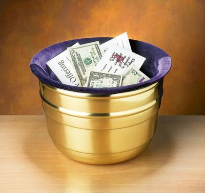 Large Offering Pot, Purple Bag  -