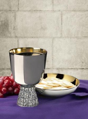 Last Supper Chalice with Bowl Paten Set  -