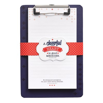 Cheerful Heart Clipboard with Notepad  -