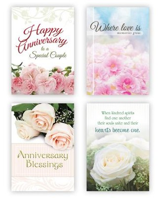 Anniversary Blessings , Box of 12 Assorted Anniversary Cards (KJV)  -