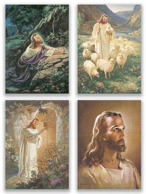 Head of Christ, Box of 12 Blank Note Cards (KJV)  -