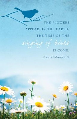 Flowers Appear (Song of Solomon 2:12) Bulletins, 100  -