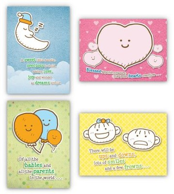 Cute and Cuddly, Box of 12 Assorted Baby Congratulations Cards (KJV)  -