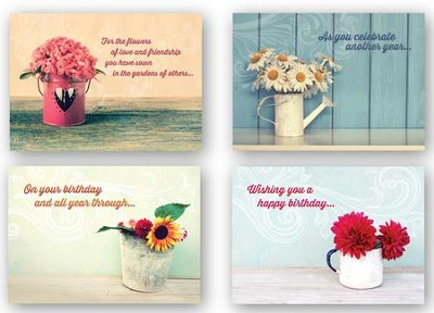 Celebrating You, Box of 12 Assorted Birthday Cards (KJV)  -