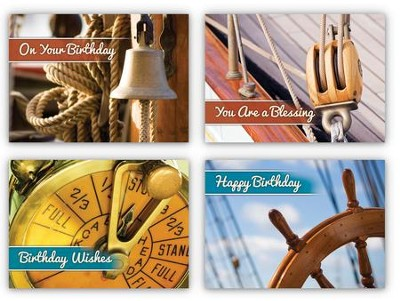 Birthday Ahoy! Box of 12 Assorted Birthday Cards (KJV)  -