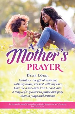 A Mother's Prayer (Proverbs 31:26) Bulletins, 100  -