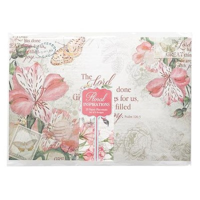 Floral Inspirations Paper Placemat Pack of 20   -