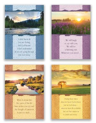 Along the Journey, Box of 12 Assorted Encouragement Cards (KJV)  -