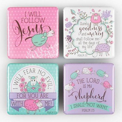 Psalm 23 Magnets, Set of 4  -