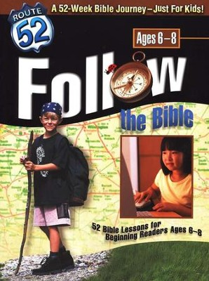Follow the Bible: 52 Bible Lessons for Beginning Readers Ages 6-8 (Route 52 Series)  -