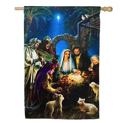 Nativity, Large Flag  -     By: Donna Gelsinger