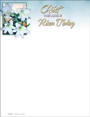 Christ the LORD is Risen Today Letterhead, 100  -