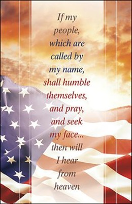 Pray and Seek my Face Flag and Sunrise (2 Chronicles 7:14) Large Bulletins, 100  -
