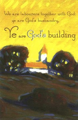 Ye are God's Building Country Church (1 Corinthians 3:9) Bulletins, 100  -