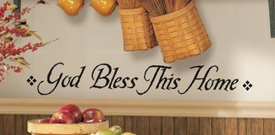 God Bless This Home Vinyl Wall Stickers  -
