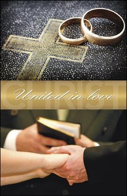 United in Love Bible Rings and Hands (Colossians 2:2, NIV) Bulletins, 100  -