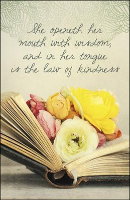 Wisdom and Kindness Flowers in Book (Proverbs 31:26) Bulletins, 100  -