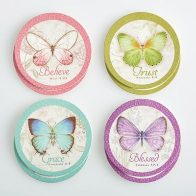 Butterfly Blessings Coasters, Pack of 8   -