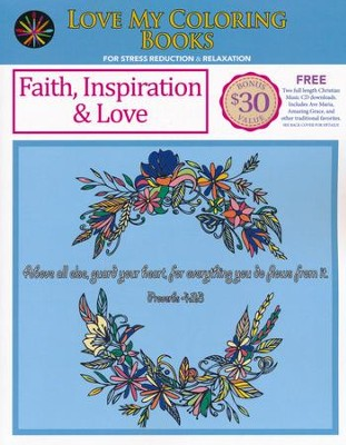 Faith, Inspiration & Love, Love My Coloring Books  -