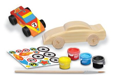 Race Car, Mini Wood Paint Kit  -