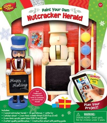 Nutcracker Herald, Wood Paint Kit  -