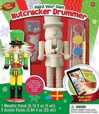 Nutcracker Drummer, Wood Paint Kit  -
