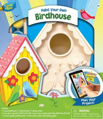 Classic Wood Paint Kit: Lovebirds Birdhouse   -