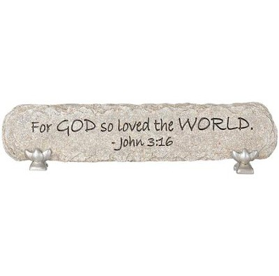 God So Loved The World, Resin Message Bar, John 3:16  -