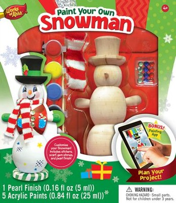 Snowman, Wood Paint Kit  -