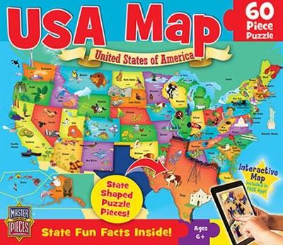 USA Map Puzzle, 60 Pieces - Christianbook.com