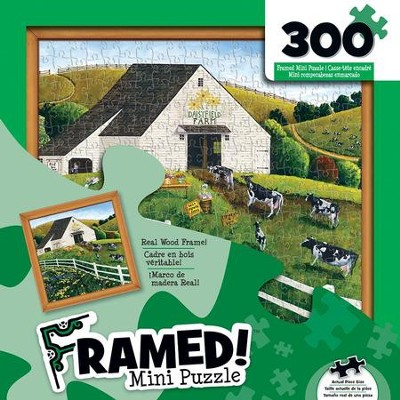 Daisy Field Farm, Framed Mini Puzzle, 300 Pieces  -