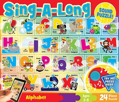 Alphabet, Sing-A-Long Puzzle, 24 Pieces  -