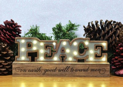 Peace LED Plaque  -