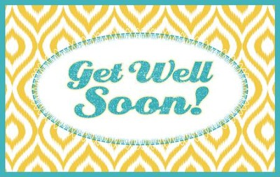 Get Well Splash Postcards (Ps. 92:1, KJV), Pack of 25   -