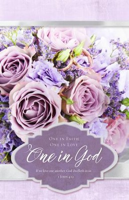 One in God (1 John 4:12, KJV) Wedding Bulletins, 100  -