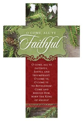 O Come All Ye Faithful Cross Design Bookmarks, 25  -