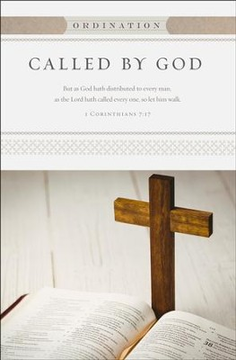 Called by God (1 Corinthians 7:17, KJV) Ordination Bulletins, 100  -