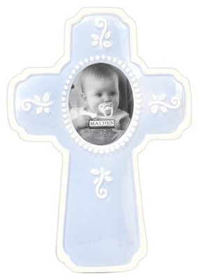 Ceramic Cross, Blue  -