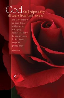 Funeral Rose (Revelation 21:4) Bulletins, 100  -