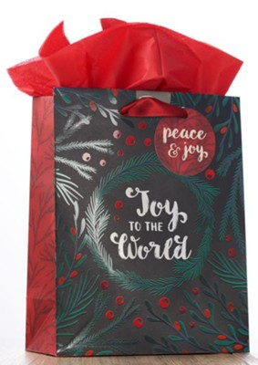 Joy To The World Medium Gift Bag    -
