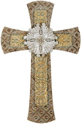 Classic Wall Cross with Medallion  -