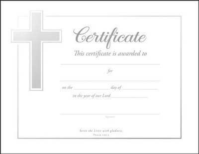 General Purpose Certificates (Psalm 100:2) Package of 6  -