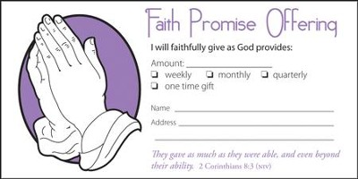 Faith Promise Offering Envelopes (2 Corinthians 8:3, NIV) 100  -