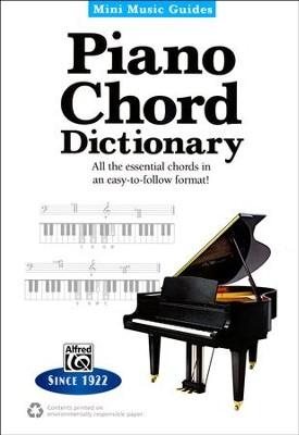 Piano Chord Dictionary Mini Music Guide  -