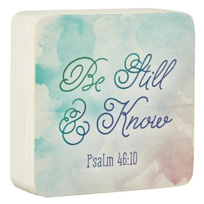 Be Still & Know, Decor Block   -