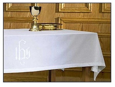 Altar Frontal, Poly/Cotton, with IHS Design   -