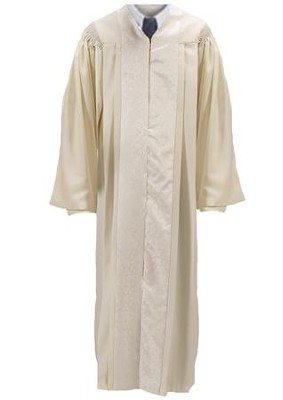 Ivory Pulpit Robe with Jacquard Panel, 59 in.  -
