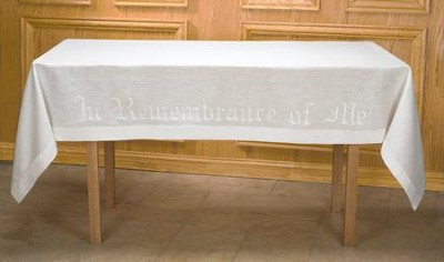 In Remembrance of Me Linen Altar Frontal   -