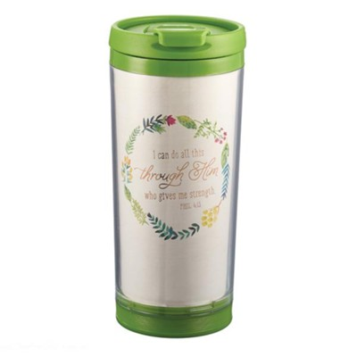 I Can Do All Things Through Christ Travel Mug  -