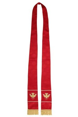 Maltese Jacquard Stole, Red  -